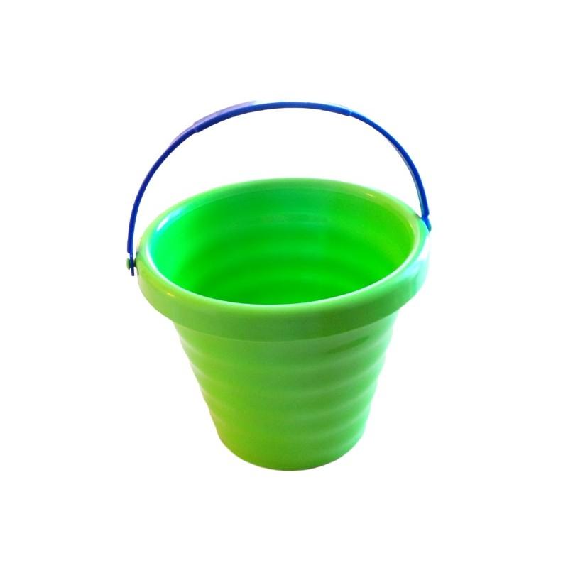 Galeata verde plastic 13 cm