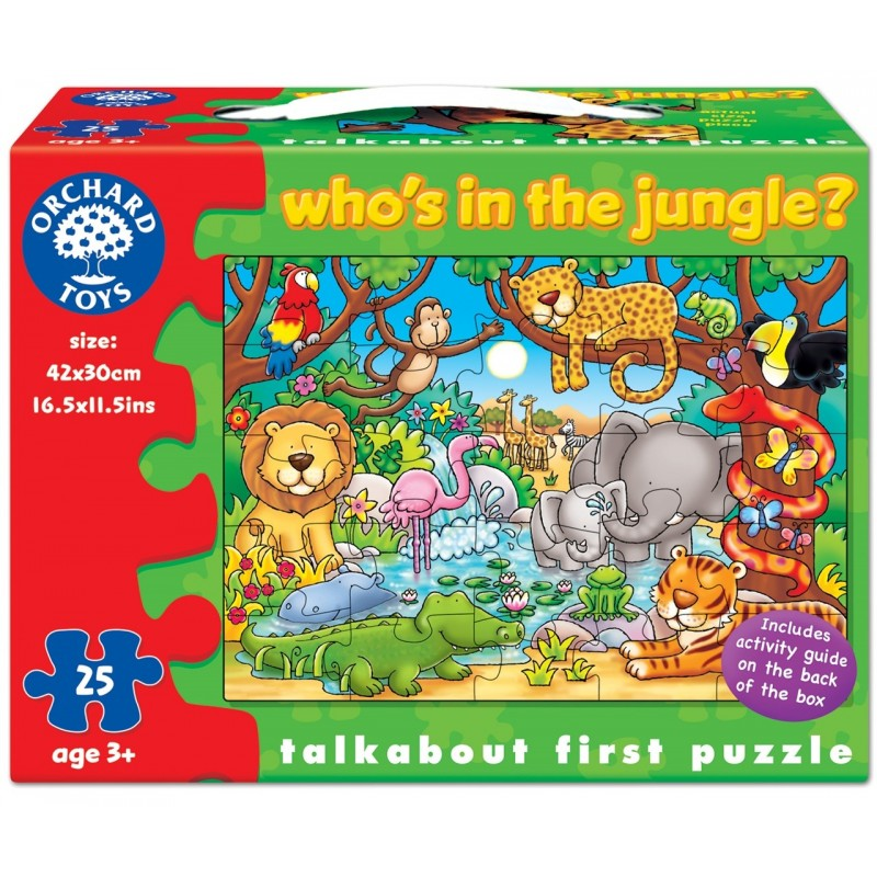 puzzle cu activitati cine este in jungla? whos in the jungle?