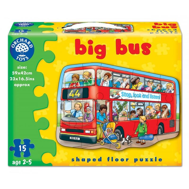 puzzle de podea autobuzul 15 piese big bus