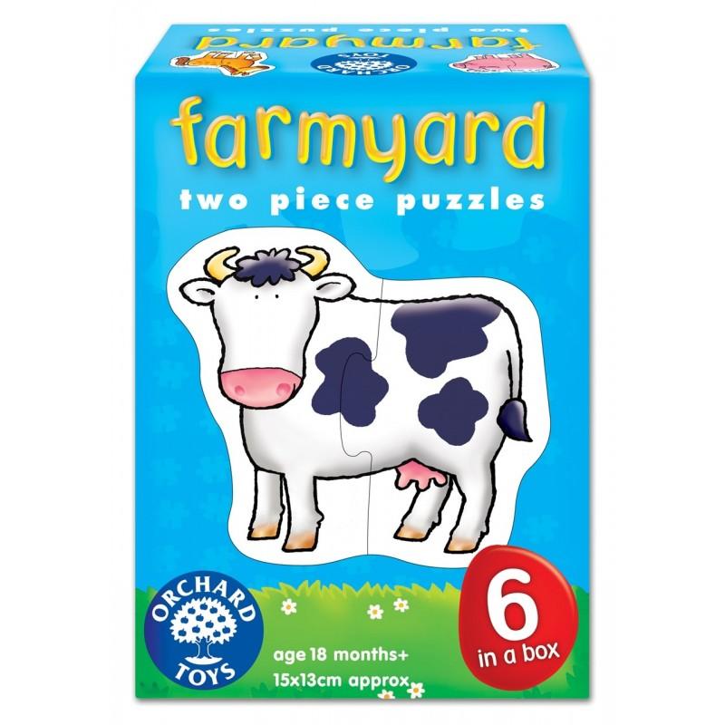 set 6 puzzle ferma farmyard