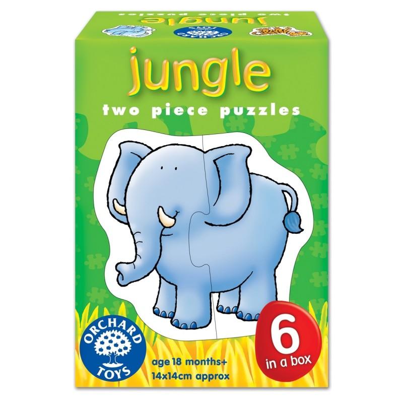 set 6 puzzle jungla jungle