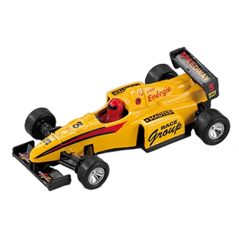 masina metalica formula 1 power racer, galben