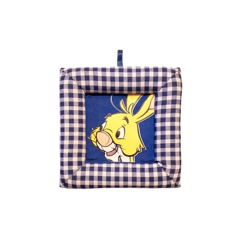 Tablou textil pentru perete Disney Iepure, carouri albasru