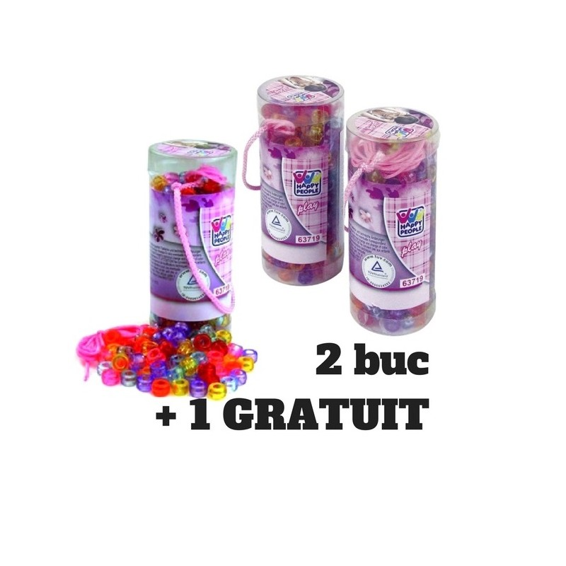 set 260 margele in tub 2+1 gratuit, happy people