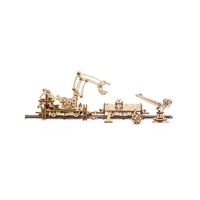 manipulator pe sine - puzzle 3d modele mecanice