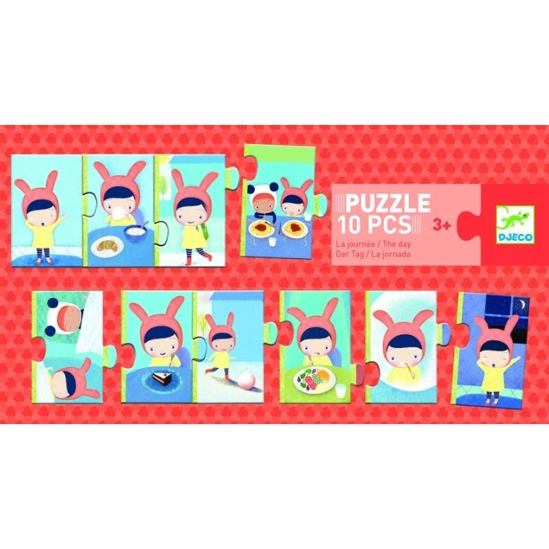 Puzzle trio Djeco activitati de peste zi