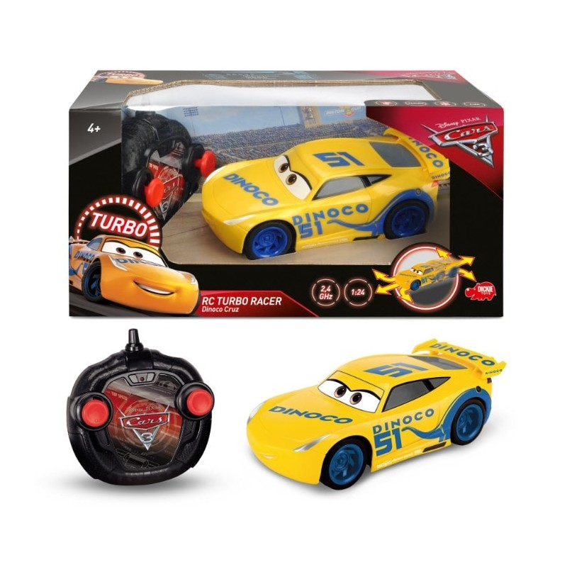 Masina Cruz Ramirez cu telecomanda Cars 3 Turbo Racer Dickie