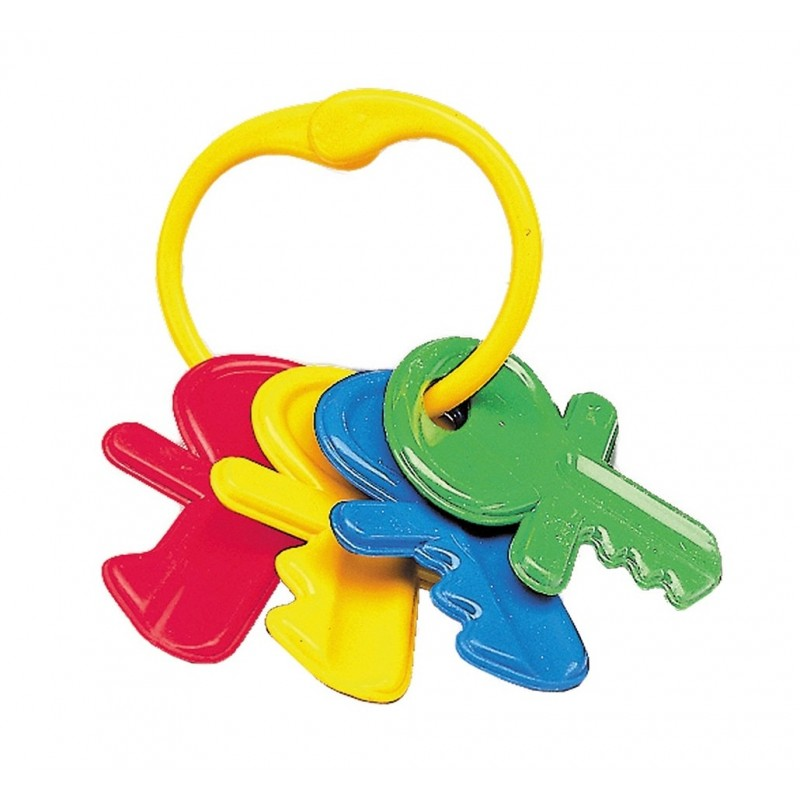 Jucarie bebe set 4 chei colorate - Happy People