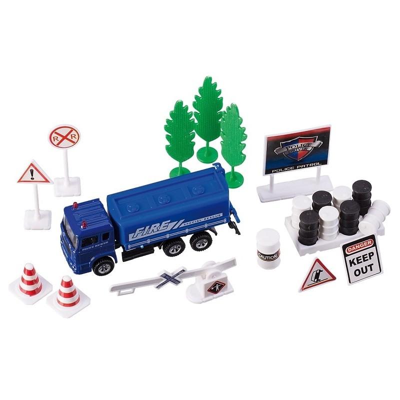set masina politie albastra cu accesorii, happy people