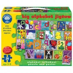 Puzzle de podea in limba engleza Invata alfabetul 26 piese - poster inclus BIG ALPHABET JIGSAW