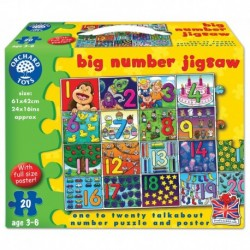 Puzzle de podea Invata numerele de la 1 la 20 BIG NUMBER JIGSAW