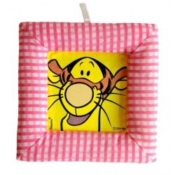 Tablou textil pentru perete Disney Tigru, carouri roz