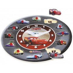Ceas educativ lemn Disney Cars