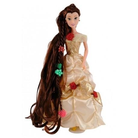 Papusa Printesa Belle cu par lung si accesorii