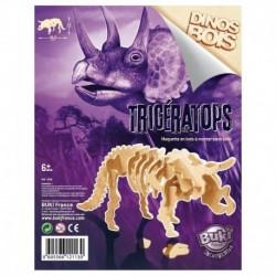 Dinozaur din lemn Triceratops