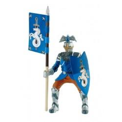 Figurina cavaler pentru turnir albastru