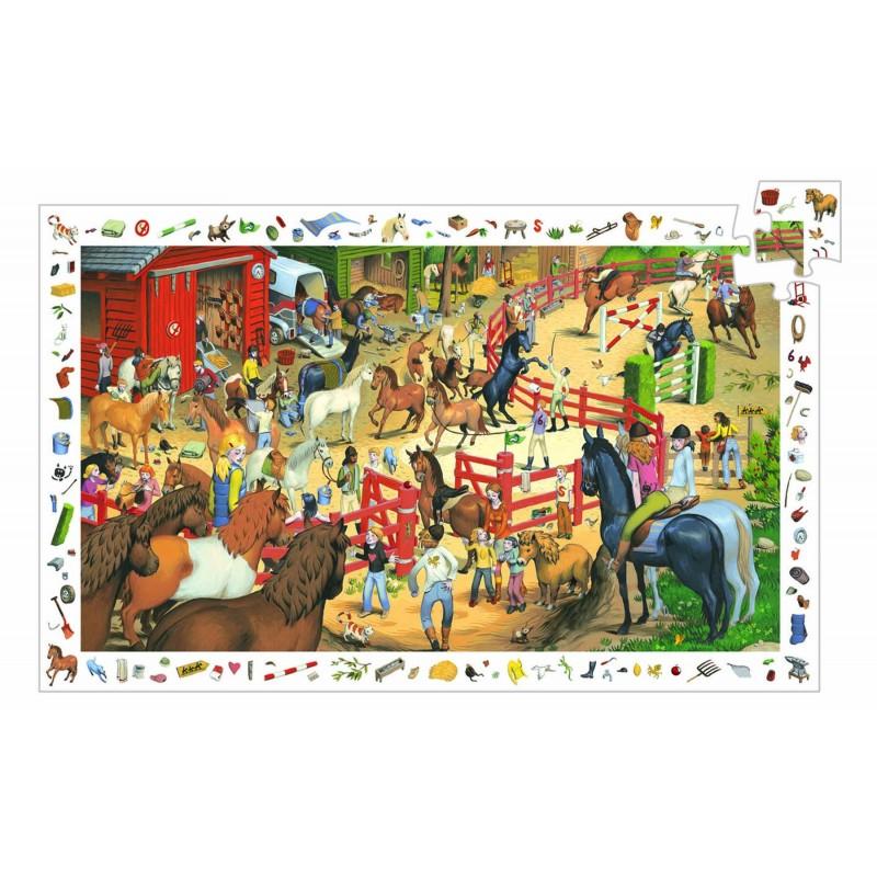 puzzle observatie djeco cai