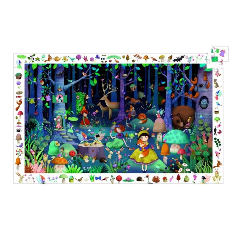 puzzle observatie djeco padurea fermecata