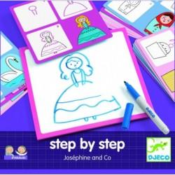 Deseneaza pas cu pas, pentru fete