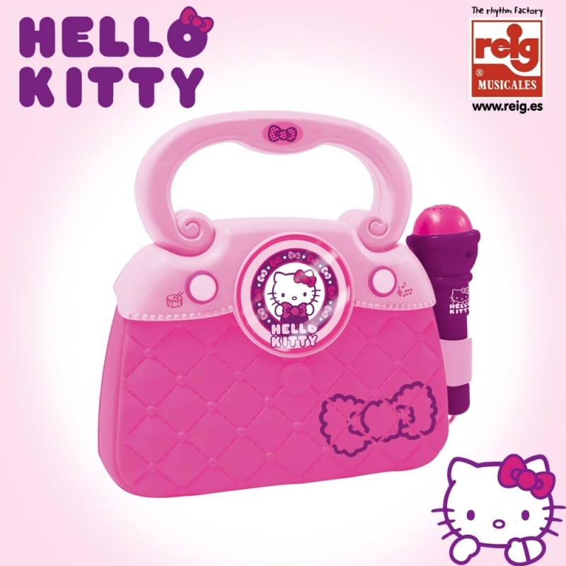 geanta cu microfon si amplificator hello kitty new