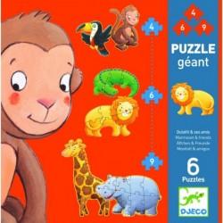 Puzzle gigant Djeco animale salbatice