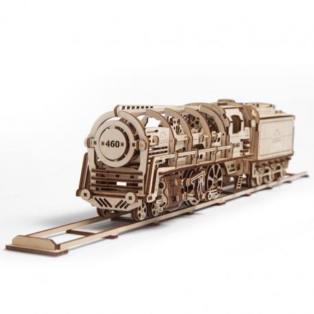 Locomotiva cu abur - Puzzle 3D Modele Mecanice