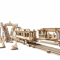 Tramvai cu statie - Puzzle 3D Modele Mecanice