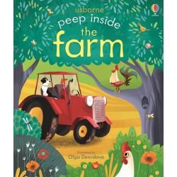 Peep Inside The Farm, carte Usborne limba engleza