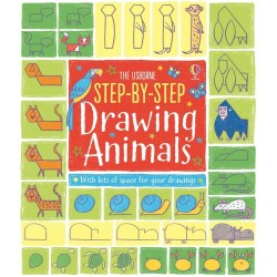 Step By Step Drawing Animals, carte Usborne limba engleza