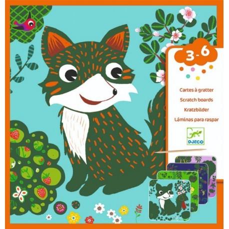 Set creativ de razuit Djeco, Animale prietenoase