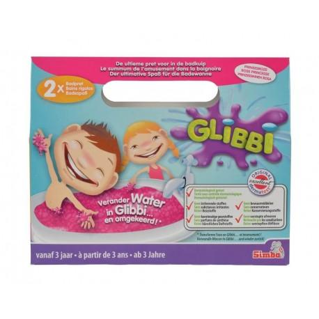 Glibbi Slime Pudra pentru baie, roz