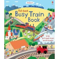 Pull-back busy train book , Carte Usborne Engleza