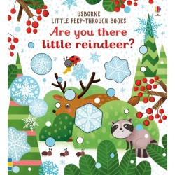Are you there little reindeer? peep-through , Carte Usborne Engleza
