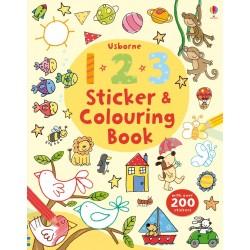 123 Sticker and Colouring Book, Carte Usborne Engleza