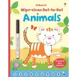 Animals Wipe Clean Dot-to-Dot, Carte Usborne Engleza