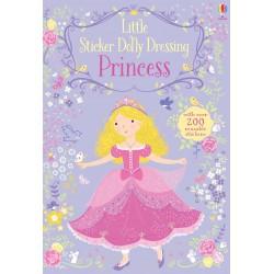 Princess Little Sticker Dolly Dressing, Carte Usborne Engleza