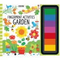 Garden Fingerprint Activities, carte Usborne limba engleza