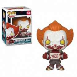 Figurina POP MOVIES: IT 2 - PENNYWISE WITH SKATEBOARD