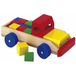 Masina cu cuburi din lemn Eichhorn