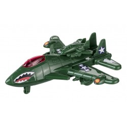Avion plastic de lupta 19 cm verde, Happy People